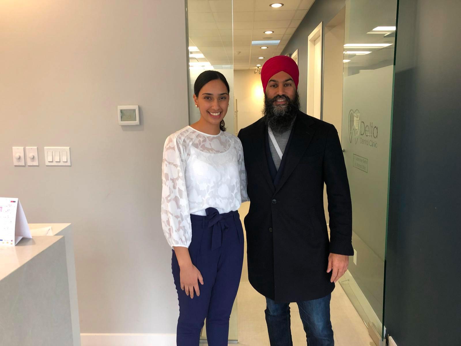 NDP Jasmeet Singh in Delta BC